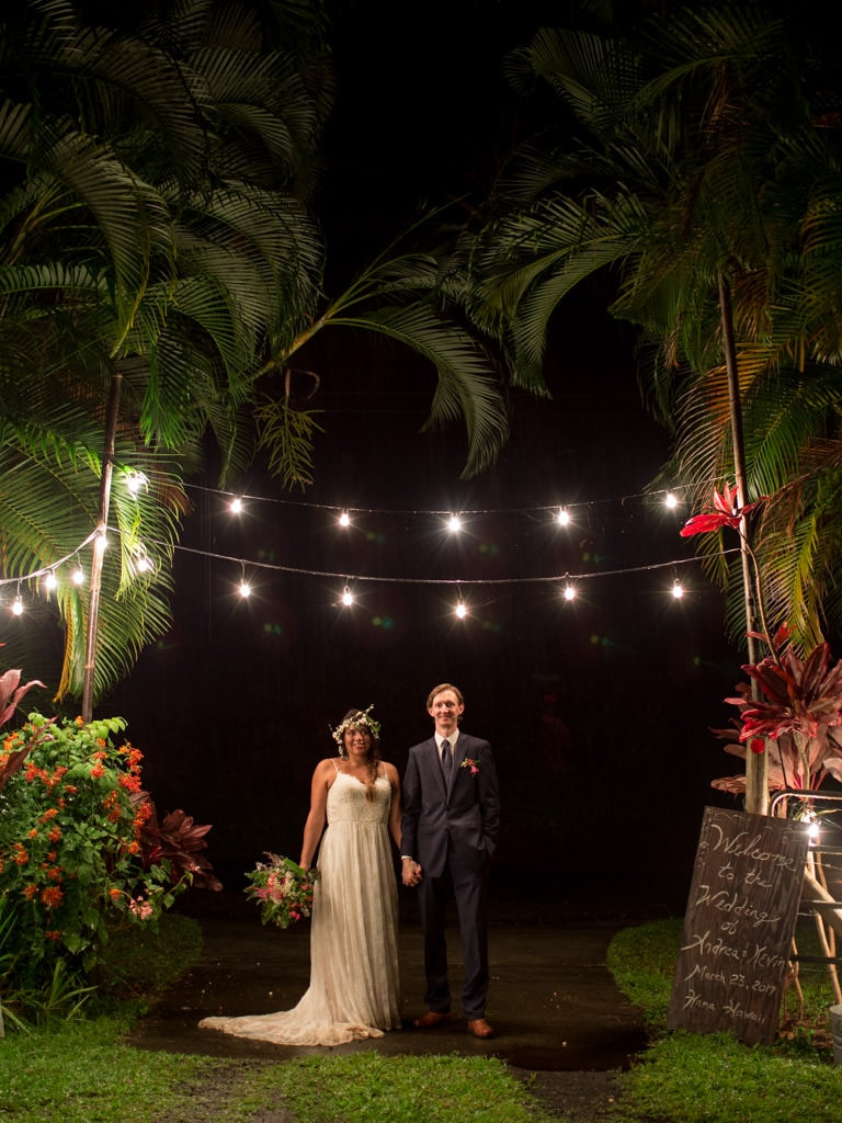 Self portrait at night after our wedding in Hana Maui